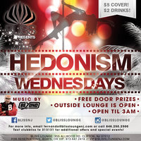 Wed! Hedonism Wednesdays at Club Bliss(NJ) | $2 Drinks...