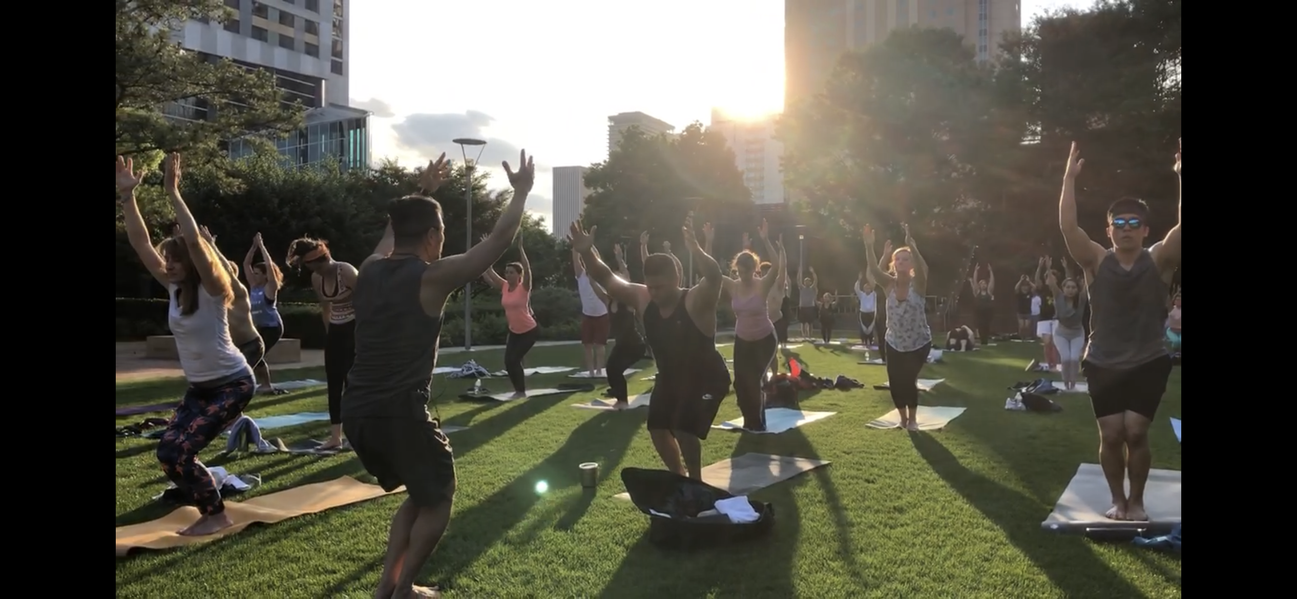 Tuesday Night Yoga at Discovery Green