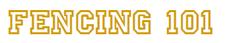 Fencing 101 logo