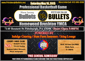 New Jersey Bullets vs Pittsburgh Bullets