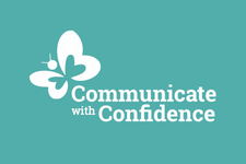 Julia Cawte at Communicate with Confidence logo