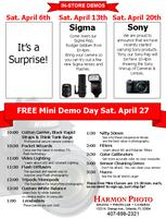 Free Mini Photography Class Demo Day