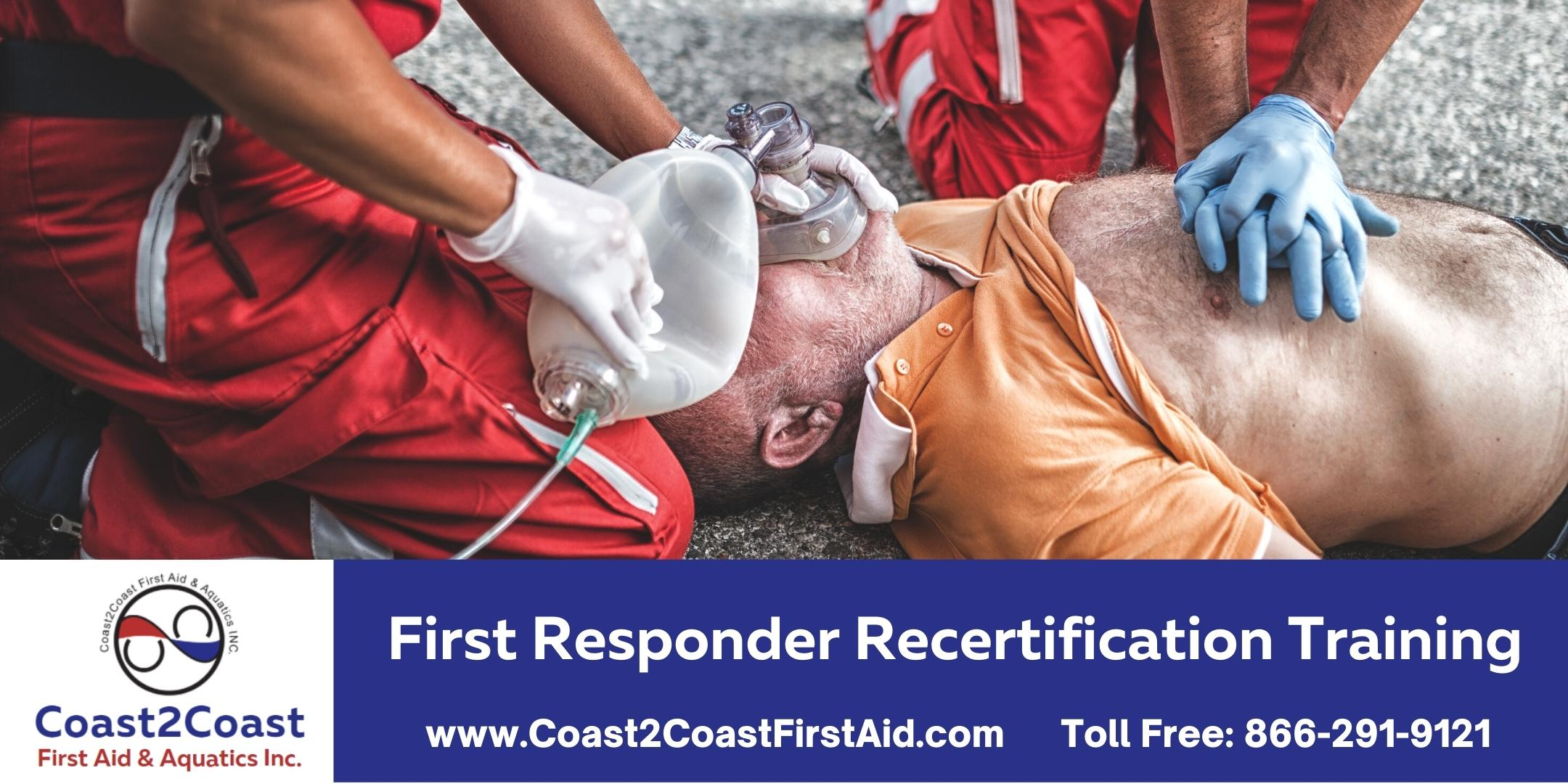 First Responder Recertification Course - Downtown Toronto