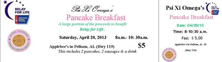 Psi Xi Omega Pancake Breakfast