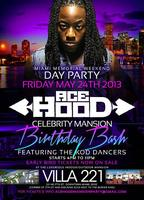 Ace Hood Celebrity Mansion Birthday Party Memorial Week...
