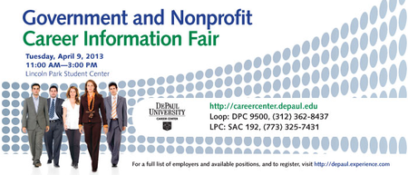 Government & Non-profit Career Information Fair