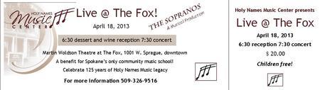 Live @ The Fox!