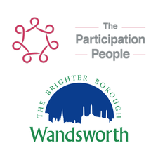 The Participation People, with the London Borough of Wandsworth logo