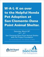 Helpful Honda Pet Adoption @ San ClementeDana Point...