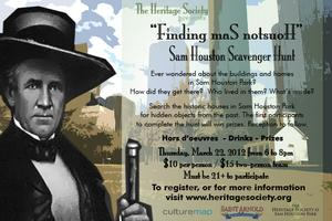 "Scavenger Hunt in Sam Houston Park - ""Finding maS notsuoH"""