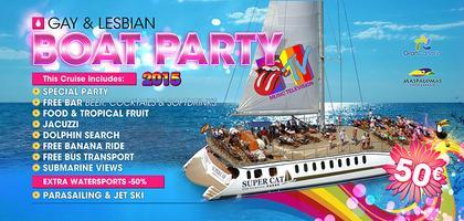 Gay Pride Boat Party Gran Canaria meeting at the Mtv...