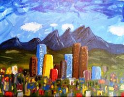 Sip N' Paint Denver Skyline Saturday June 22nd, 7:30pm