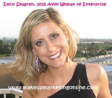 Emily Seagren, 2015 Avon Woman of Enterprise logo