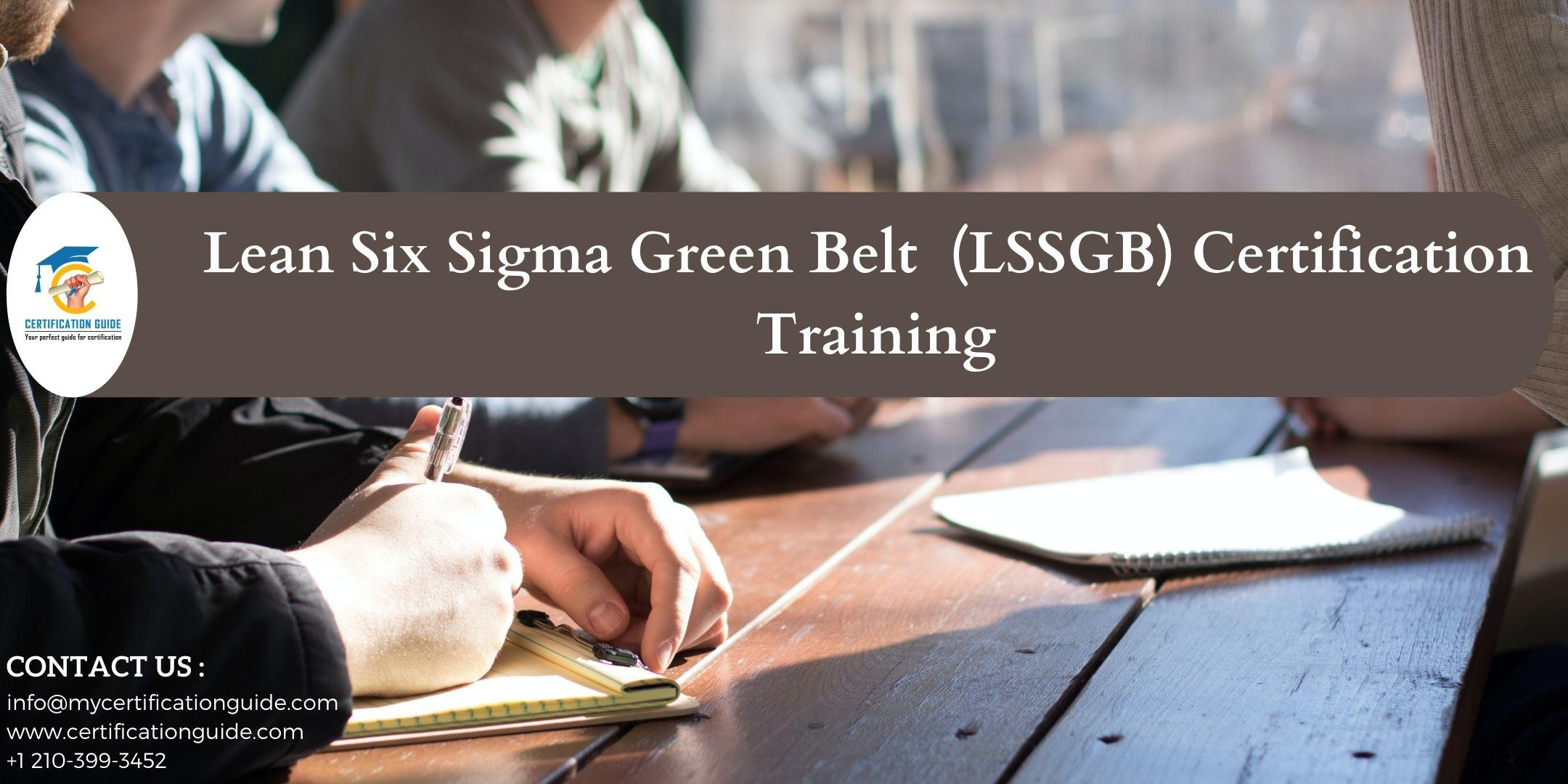 Lean Six Sigma Green Belt - LSSGB Certification Training in Auburn, AL