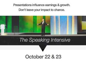The Speaking Intensive October 2015