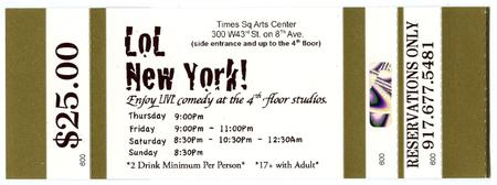 """LoL New York"" Comedy Studios. Grand Opening!"
