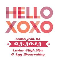 Easter High Tea & Egg Decorating Party
