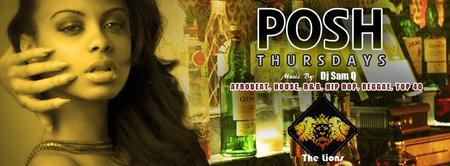 Posh Thursdays @ The Lions
