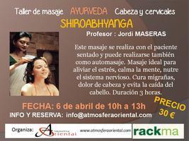 taller Ayurveda - ShiroAbhyanga - Cabeza y cervicales