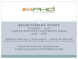 9021pho Recruitment Event