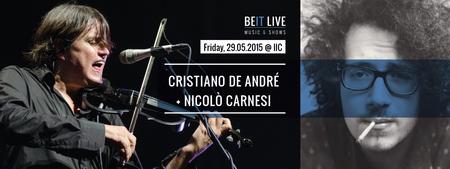 CRISTIANO DE ANDRE' + NICOLO' CARNESI @ IIC