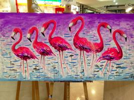 Kids School Holidays 'How to Paint Flamingos' Workshop