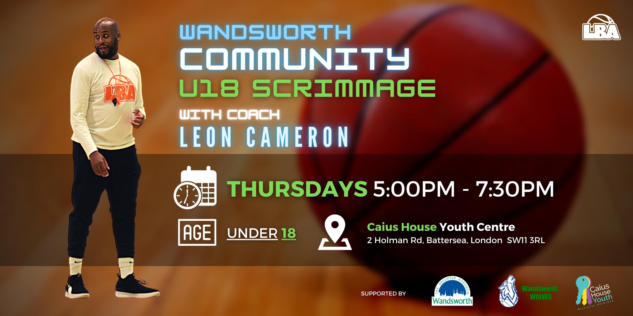 U18 Wandsworth Community Scrimmages - Weekly Basketball