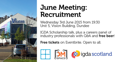 IGDA Scotland June Meeting: Recruitment