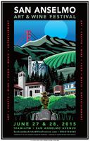 San Anselmo Art & Wine Festival Sampling Pavilions 2015