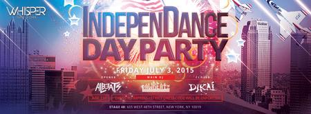 WHISPER NYC: INDEPENDANCE DAY PARTY @ STAGE 48