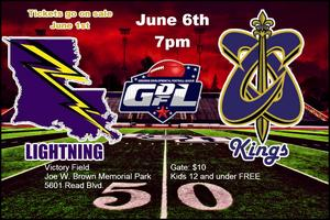 Crescent City Kings vs Louisiana Lightning