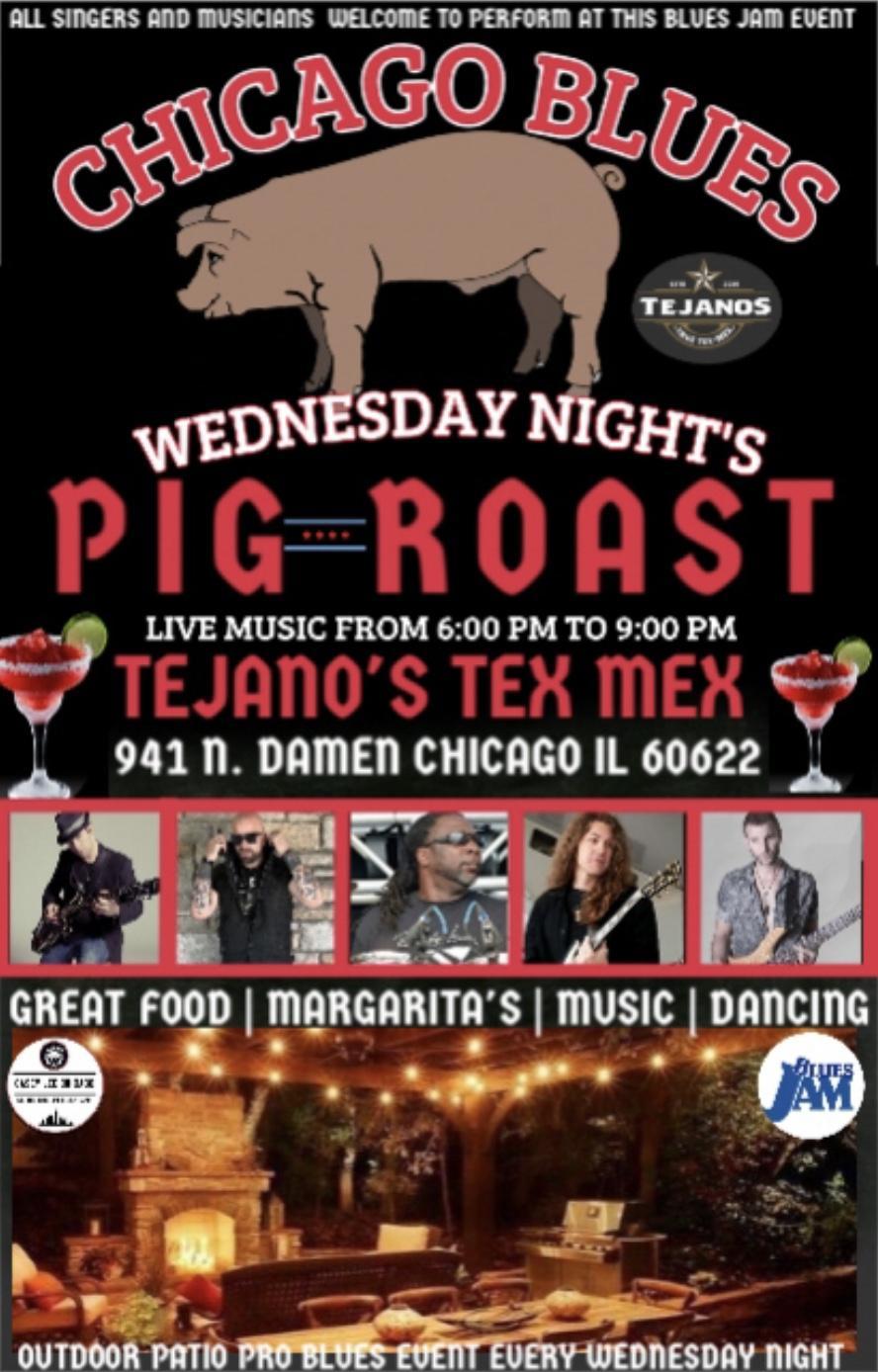Chicago blues pig roast