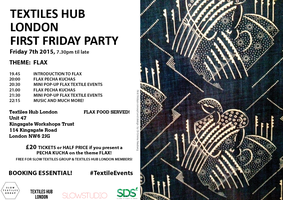 TEXTILES HUB LONDON FIRST FRIDAY 7th August 2015