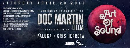 "ART OF SOUND, DOC MARTIN ""extended set"" w/ LILLIA"