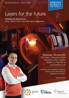 Lasers for the future - Professor MJ Daniel Esser