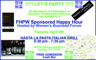 Happy Hour at Hasta La Pasta