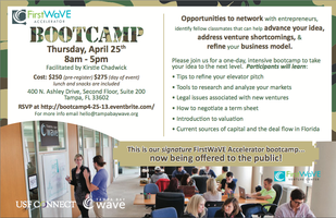 POSTPONED: FirstWaVE Bootcamp (OPEN TO THE PUBLIC!!)