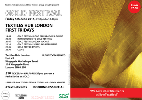 TEXTILES HUB LONDON FIRST FRIDAY 5th June 2015