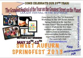 1st Maternity at the Sweet Auburn Spring Festival 2013