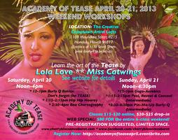 Academy of Tease April 20-21 Weekend Workshops at The...