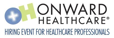 Onward Healthcare NJ Hiring Event