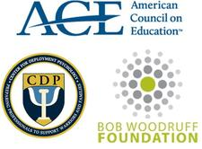 Center for Deployment Psychology with the American Council on Education and the Bob Woodruff Foundation logo