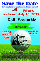 New Hope Center's 9th Annual Golf Scramble Tournament