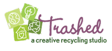 Trashed, A Creative Recycling Studio logo