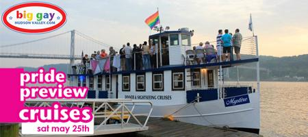 Big Gay Hudson Valley Pride Preview Cruises aboard the Mystère