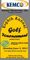 Boys & Girls Club of Boerne 8th Annual Golf Tournament