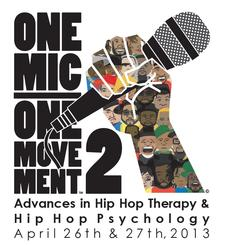 Hip Hop Psychology Co-Founders Debangshu Roychoudhury, MA, PhD student in Psychology & Lauren Gardner, MSW, PhD student in Psychology in connection with Hip Hop Therapy pioneer, Edgar H. Tyson, PhD logo