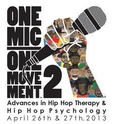 Hip Hop Psychology Co-Founders Debangshu Roychoudhury, MA, PhD student in Psychology & Lauren Gardner, MSW, PhD student in Psychology in connection with Hip Hop Therapy pioneer, Edgar H. Tyson, PhD logo