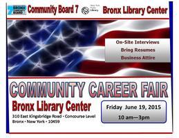 NYPL-Bronx CB7: Community Career Fair