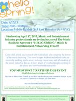HELLO SPRING! Music & Entertainment Networking Event